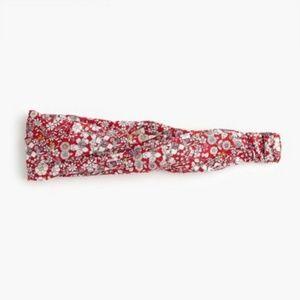 J. Crew Twist Headband Liberty Red Meadow Floral